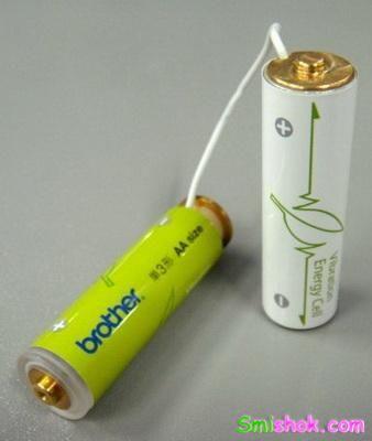 Дуже зручний винахід - батарея, що самозаряжающаяся