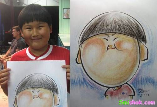 Смішні малюнки людей