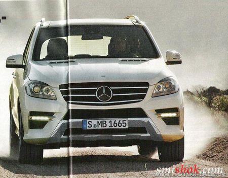 Несподівані фотографії нового Mercedes ML без камуфляжу