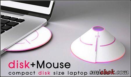 Компактна мишка-диск disk + Mouse