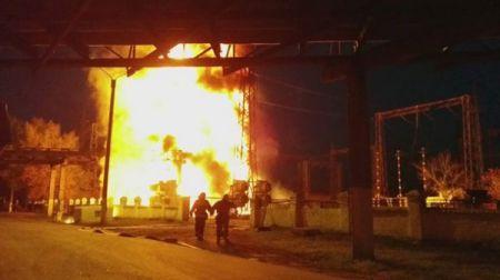 Итоги 9 октября: Пожар на Луганской ТЭС и обстрелы Донецка