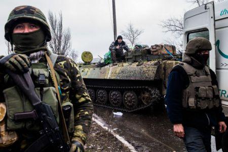 Карта АТО 4 февраля. Наступление боевиков на Дебальцевском и Волновахском направлениях