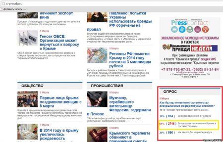 Более половины крымчан проголосовали бы за возвращение Крыма в состав Украины