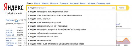 Что происходит в мире по мнению Яндекса?