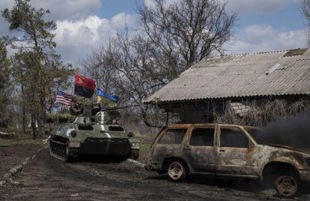 Карта АТО 5 мая. Бои в Широкино, обстрелы из тяжелой артиллерии