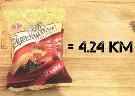 Сколько километров «стоят» съеденные вкусняшки