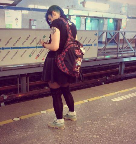 Безумные модники в метро