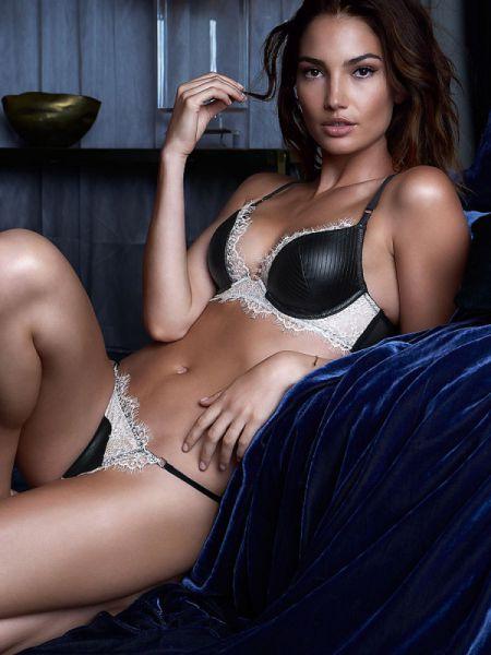 Лили Олдридж фото. Девушка в красивом нижнем белье