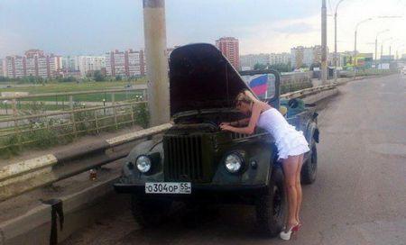 Авто приколы про девушек