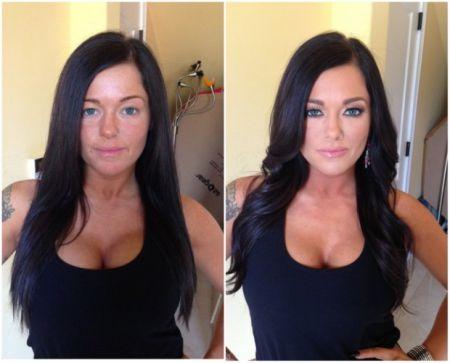До макияжа и после, Девушки не то чем кажутся
