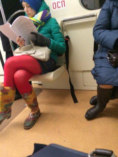 Быть модным модно. Модные люди из метро