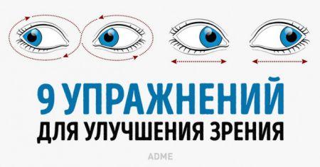 Упражнения которые помогут улучшить зрение
