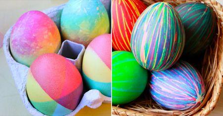 Как красиво и необычно покрасить пасхальные яйца: 3 простых способа