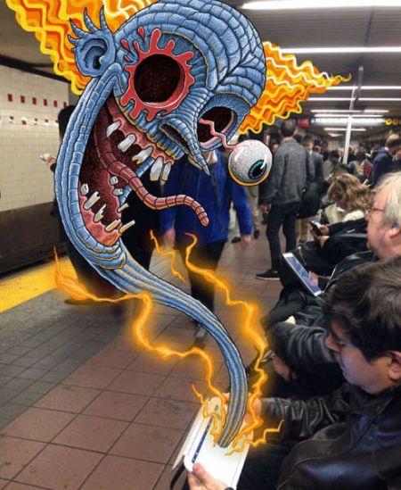 Монстры в нью-йоркском метро