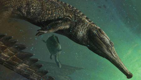 """Палеонтологи нашли череп крокодила с """"оскалом"""" млекопитающего"""