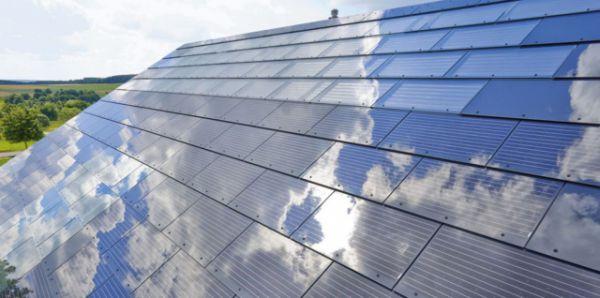TESLA и SOLARCITY показали крыши из солнечных батарей