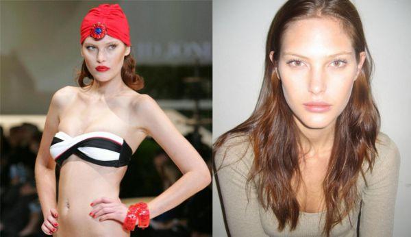 Ангелы Victoria's Secret без макияжа