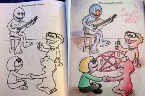 Не доверяйте детские раскраски взрослым