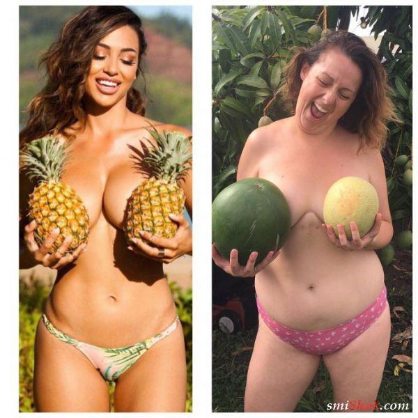 Веселые пародии на скучные фото знаменитостей от Селесты Барбер