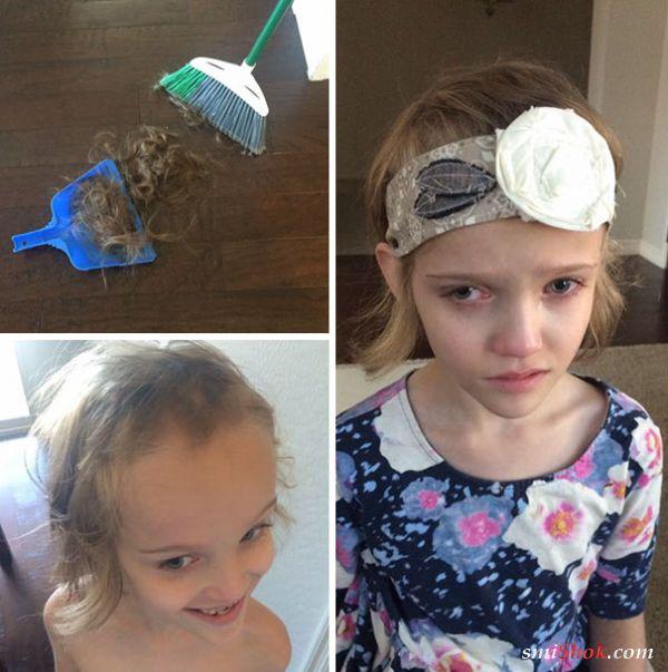 Уморительные детишки, решившие сделать себе модную стрижку