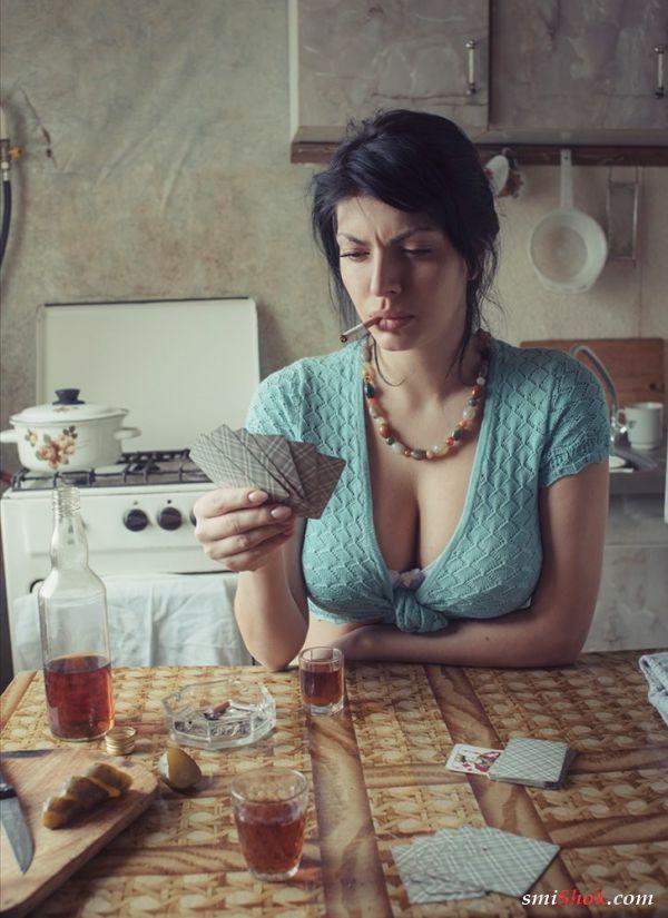 Фотосессия озорных прачек от украинского художника