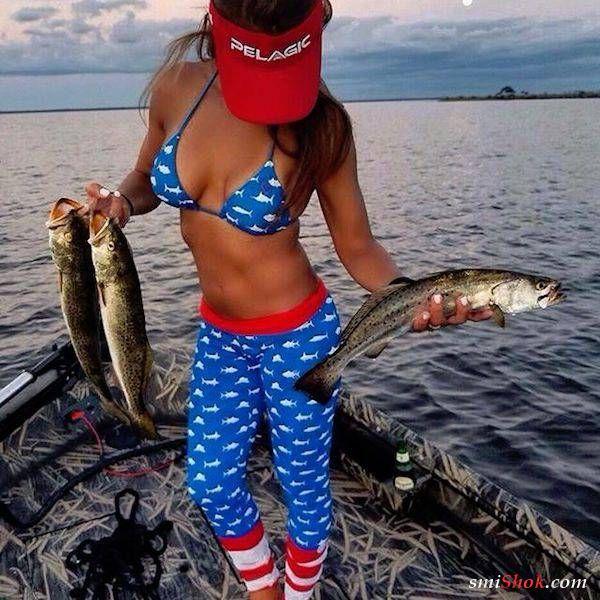 Девушки на рыбалке (26 фото)