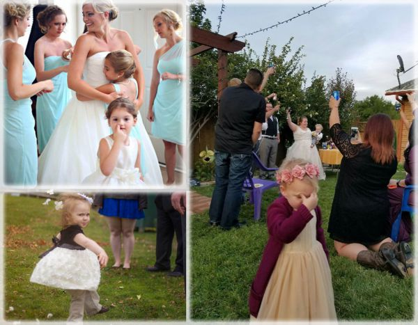 Смешные фото. Детишки на свадьбе, и им это совсем не нравится