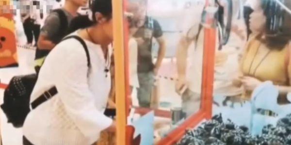 Животные внутри клетки и вне: китайцы в игровых автоматах продают живых крабов