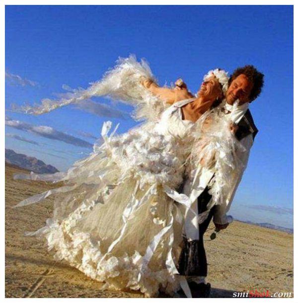 Невесты не перестают удивлять своим выбором свадебных платьев