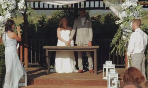 Слегка переволновался на свадьбе
